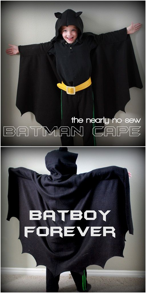 child's batman cape - so easy with very little sewing!