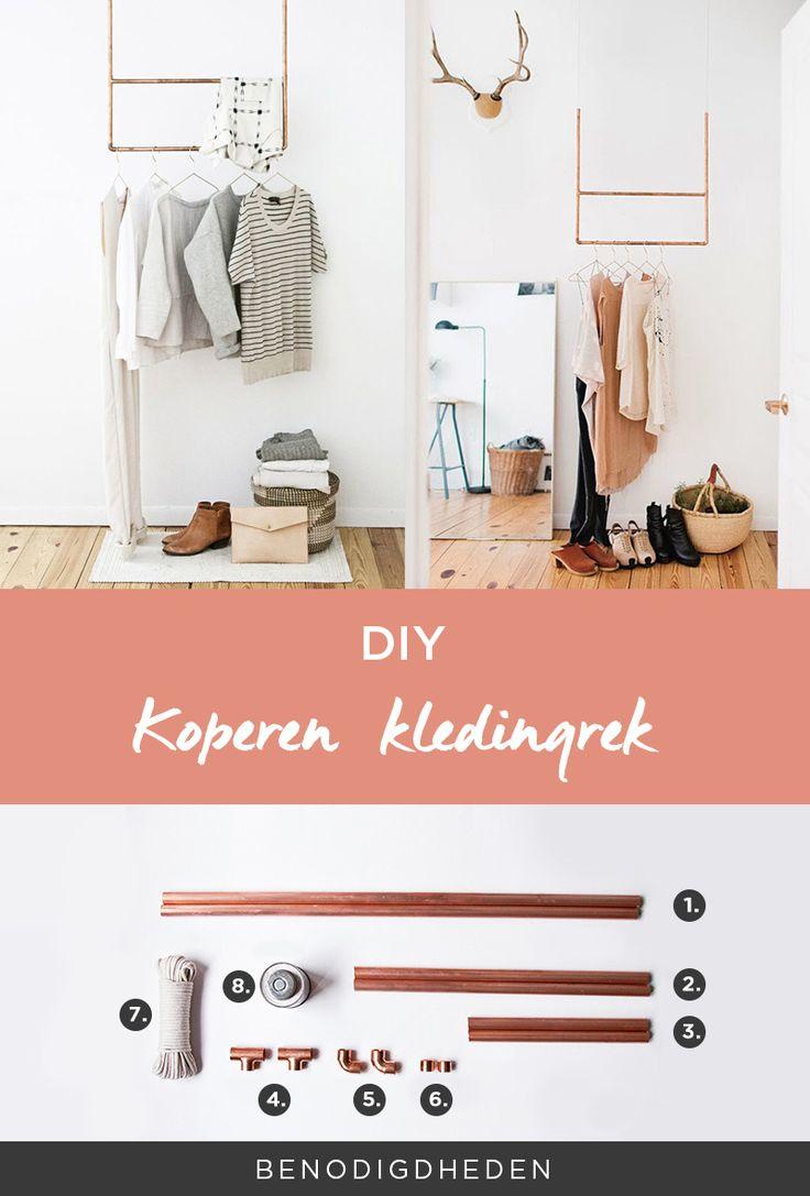 DIY Koperen kledingrek