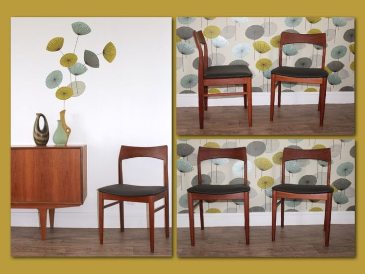 Chaises en Teck scandinave made in Denmark - Vintage années 60