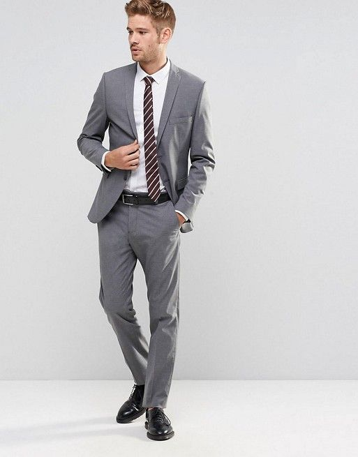 Selected Homme Grey Suit with Stretch in Slim Fit