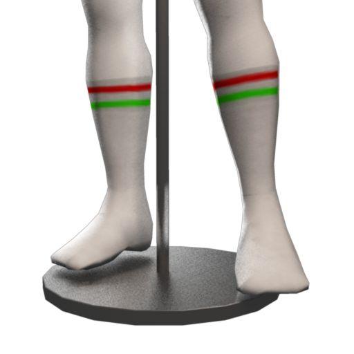 Retro Fitness Socks - White