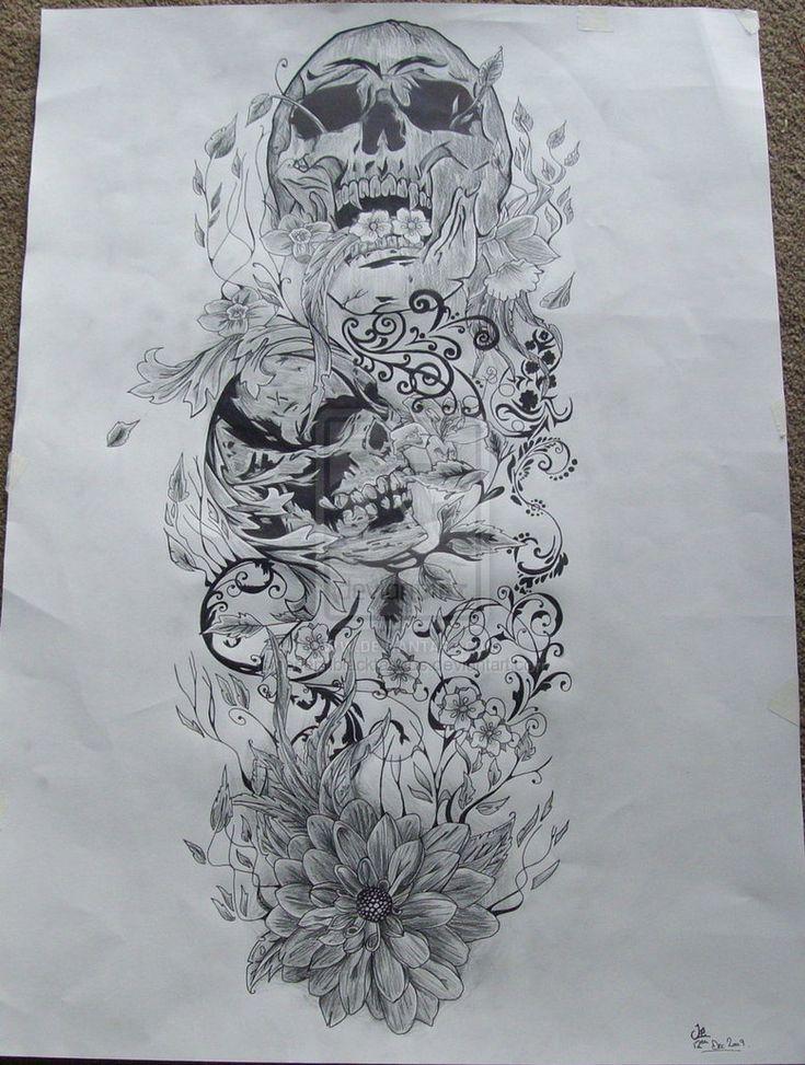 25 best ideas about fairy sleeve tattoo on pinterest for Skull fairy tattoos