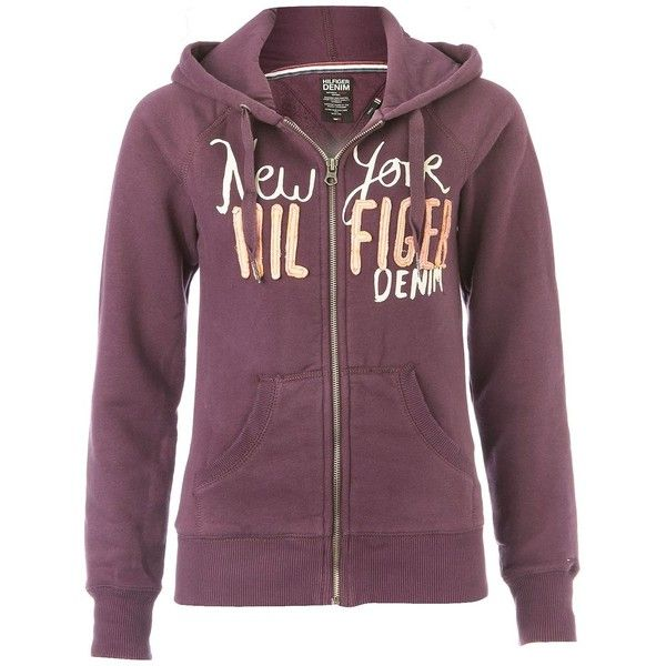Beatrice hooded top Purple ($42) ❤ liked on Polyvore featuring tops, sweaters, women, tommy hilfiger jumper, logo sweaters, purple top, zipper top and purple jumper