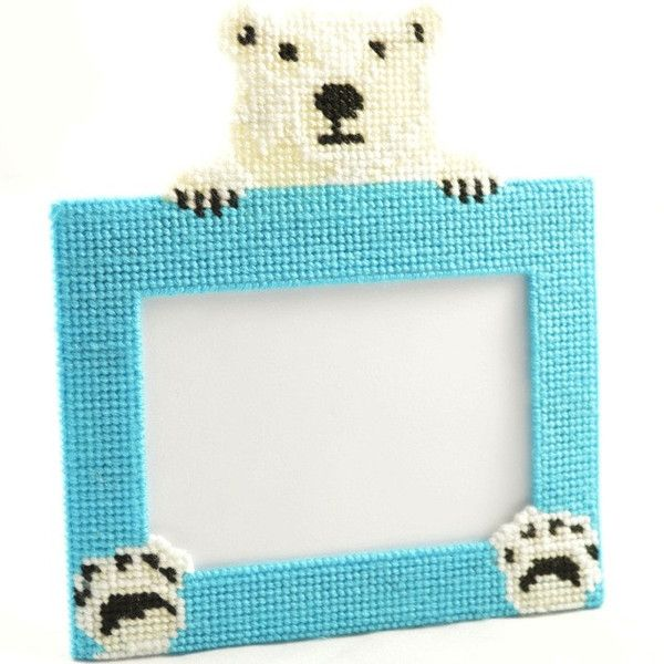 polar bear plastic canvas framesplastic
