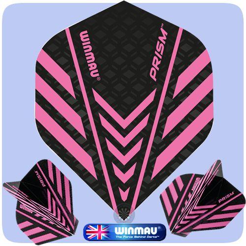 Winmau Prism Dart Flights - 100 Micron - Translucent - Rhino Technology - Std - Pink - http://www.dartscorner.co.uk/product_info.php?products_id=19565