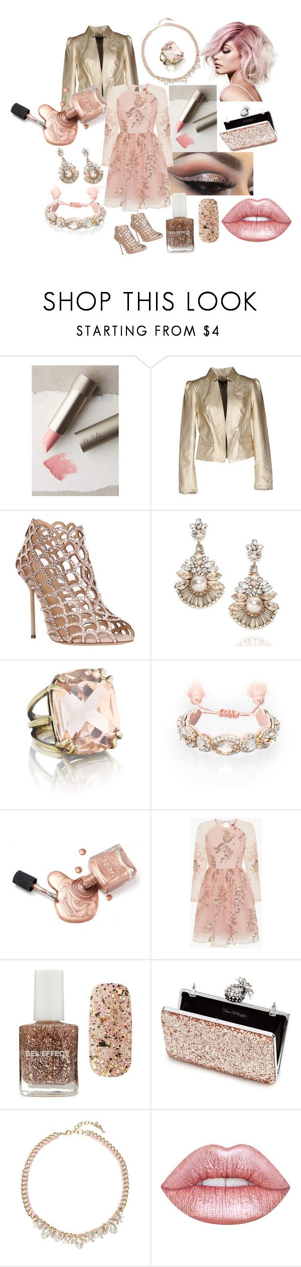 """Spring Bling #1 by Accentuated Gems"" by accentuated-gems on Polyvore featuring Ilia, Morgan De Toi, Sergio Rossi, Chloe + Isabel, Chi Chi, Forever 21, Miss Selfridge and Lime Crime"