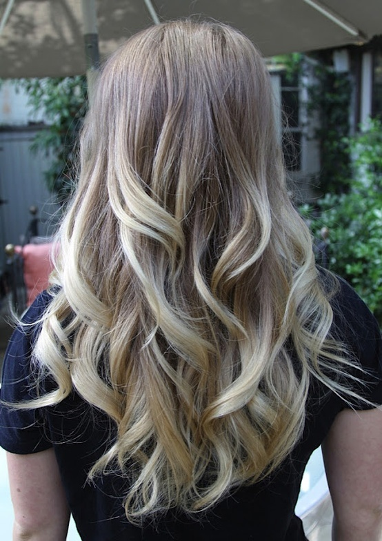 blonde ombre OMG I want!!!! As soon as the other colors grow out I plan to do this!!!!