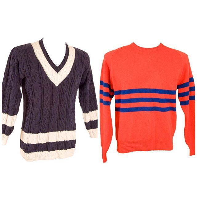 Vintage Style: Winter has us feeling a little blah so choosing the brighten the day with these men's stripped wool knits and a nice cup of coffee. Available now on-line. #mensvintage #mensfashion #uglysweater #ootd #winterstyle