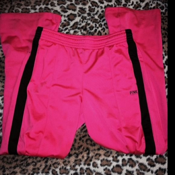 V.S Neon Pink HOT Pink  Pants *Limited Edition The color of these pants caught my eye. Some point of my life I Loved these pants. I'm 5'5 and these pants were a bit long on me so I barley wore these pants. PINK Victoria's Secret Pants