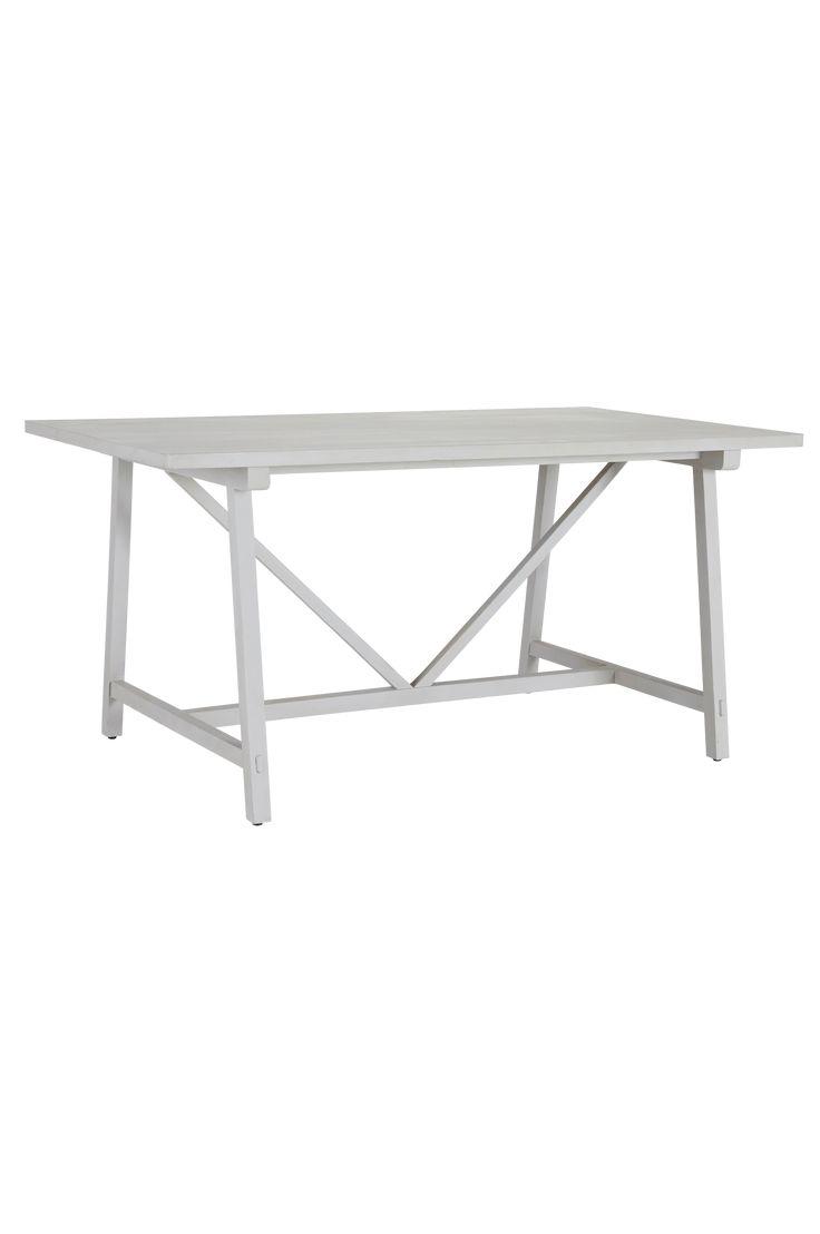 """Köksbord med skiva och underrede av mangoträ. Mått 90x160 cm. Höjd 77 cm. Levereras monterat. Vikt 20 kg. Läs om fraktavgiften under fliken """"Leverans""""."""