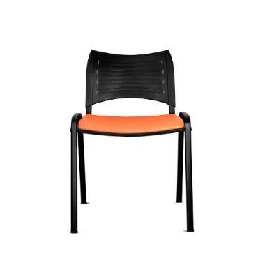 Silla Iso Smart asiento tapiz, respaldo polipropileno.Ideal para utilizar en recepción de oficinas, cafeterías y salas de estudio.