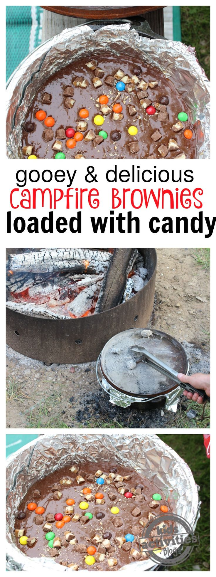 Candy Loaded Campfire Brownies