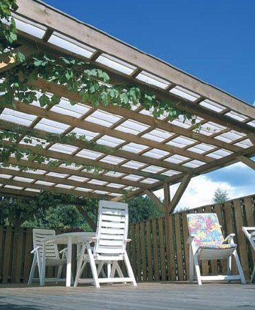 Valokate päästää päivänvalon lävitseen ja suojaa sadevedeltä. - Keep sunlight in and rainwater out!