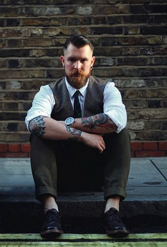 Tattoos are more commonly seen in the workplace and as fashion novelty then every before. See our gallery of classy tattooed men in suits here!