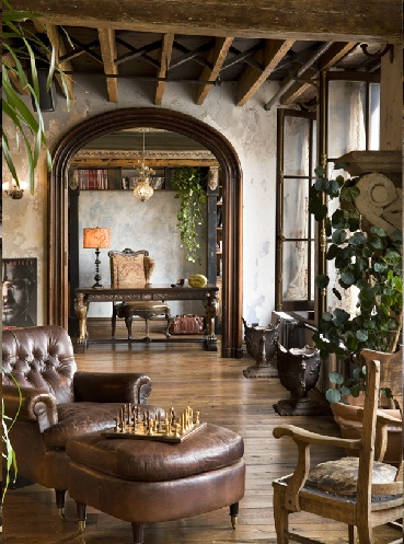 .Ceilings Beams, Exposed Beams, Rustic Elegant, Expo Beams, Rustic Interiors, Modern Rustic, Living Room, Gerard Butler, Leather Chairs