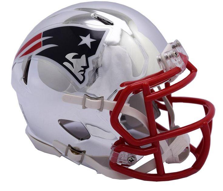 NFL New England Patriots Team Speed Mini Chrome Alternate Helmet