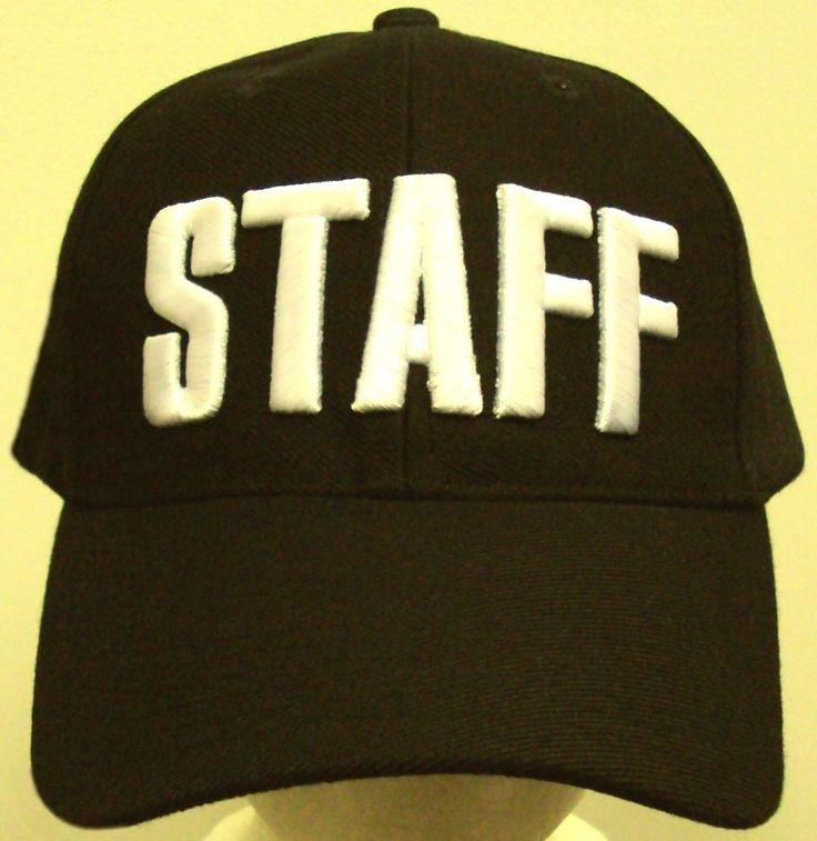 DELUXE STAFF CREW SECURITY BOUNCER GUARD EVENT PATROL BLACK CAP HAT UNIFORM GEAR #PREMIUMHEADWEAR #BaseballCap