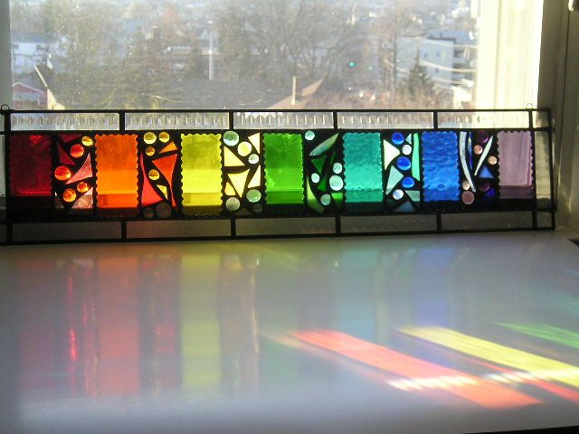 Stained Glass Panel Stained Glass Transom by CreativeSpiritGlass