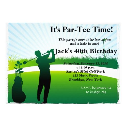 20 best golf themed birthday invitations images on pinterest man golf birthday invitation bookmarktalkfo Choice Image