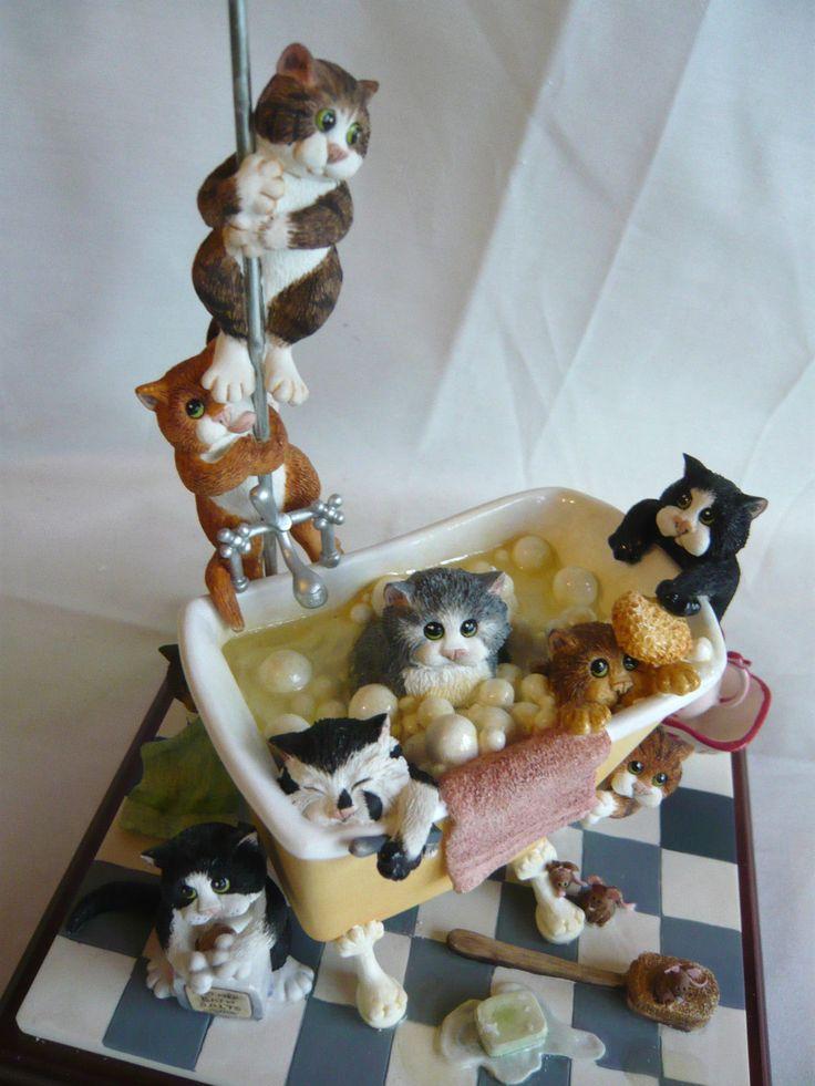 border fine arts comic & curious cats 'IN THE TUB' ED No1288 A3844 | eBay
