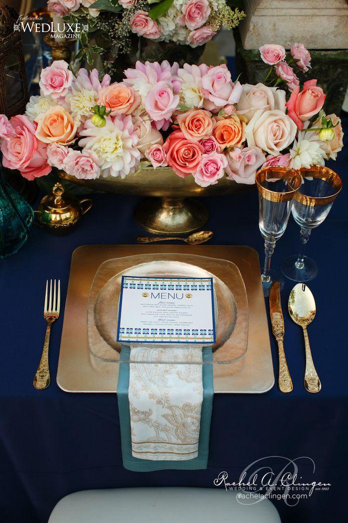 wedding centerpieces fake flowers%0A Navy Coral Wedding Rachel A  Clingen