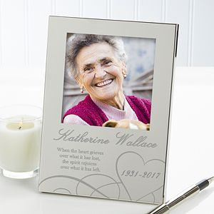 Remembering... Personalized Memorial Engraved Photo Frame