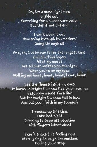 I am thinking about you lyrics