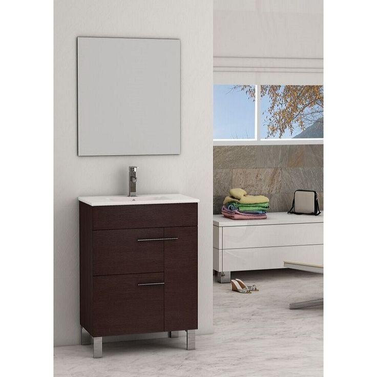modern bathroom fountain valley reviews%0A Eviva Cup        Wenge Modern Bathroom Vanity Set  EVVN     WG