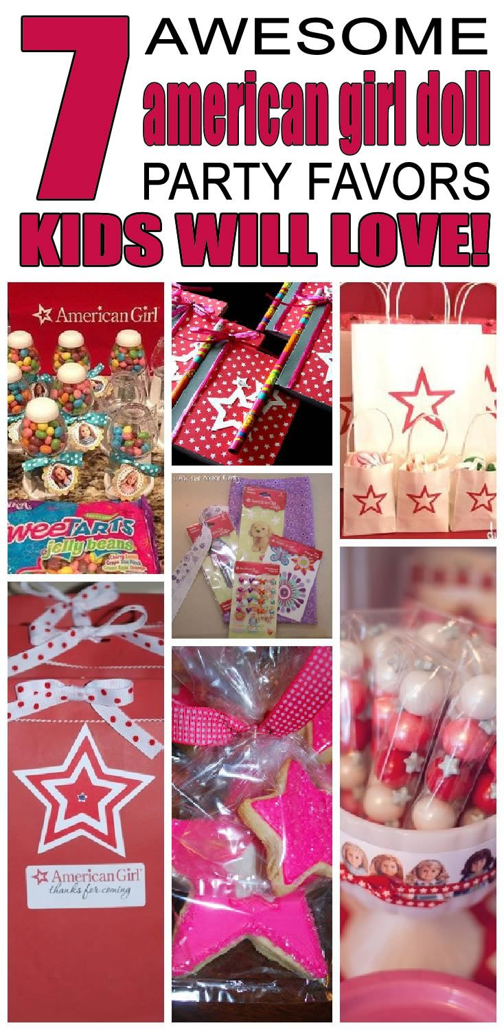 7 american girl doll party favor ideas for kids. Fun and easy american girl doll birthday party favor ideas for children.