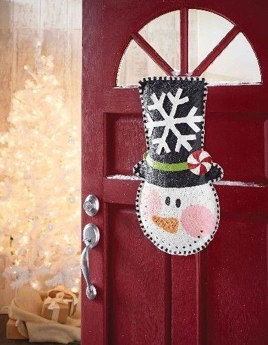Mud Pie Snowman Burlap Door Hanger Hanging Sign Winter Christmas Decor 122329 | eBay