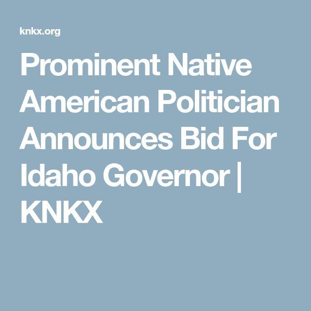 Prominent Native American Politician Announces Bid For Idaho Governor | KNKX
