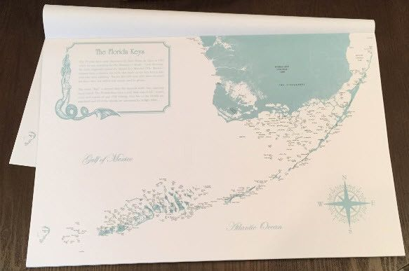 Florida Keys Placemats from Sealake Products LLC #floridakeys #beachdecor #homedecor