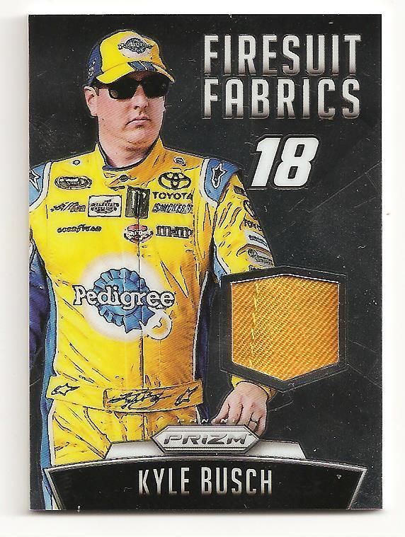 2016 PANINI PRIZM NASCAR CARDS Firesuit Fabrics Kyle Busch 138/149