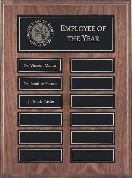 Walnut Annual Perpetual Plaque