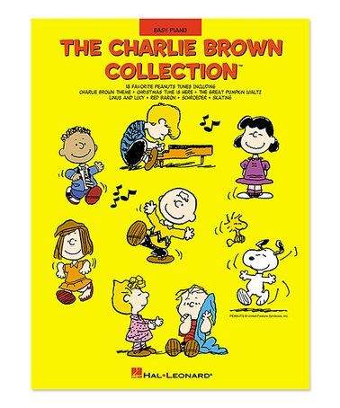 This The Charlie Brown Collection Easy Piano Songbook is perfect! #zulilyfinds