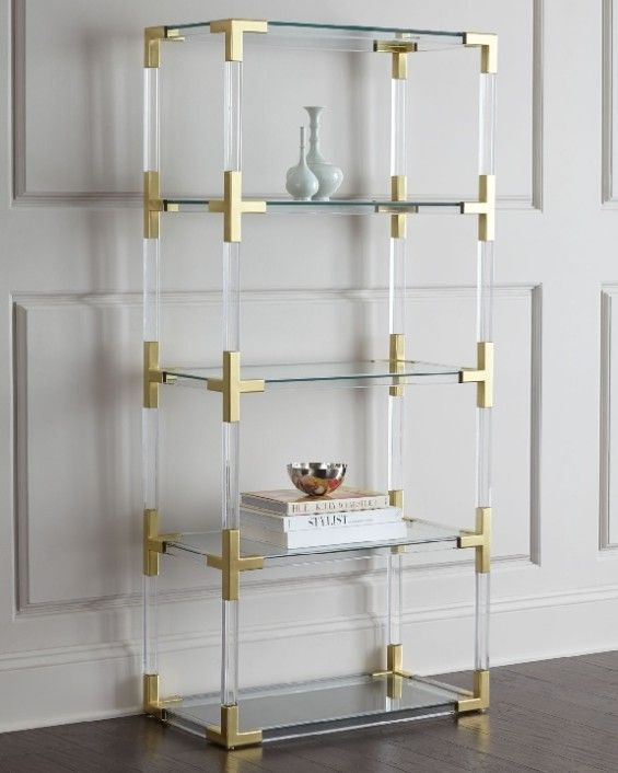 glam gold bookcases and etageres living room furniture decor rh pinterest com