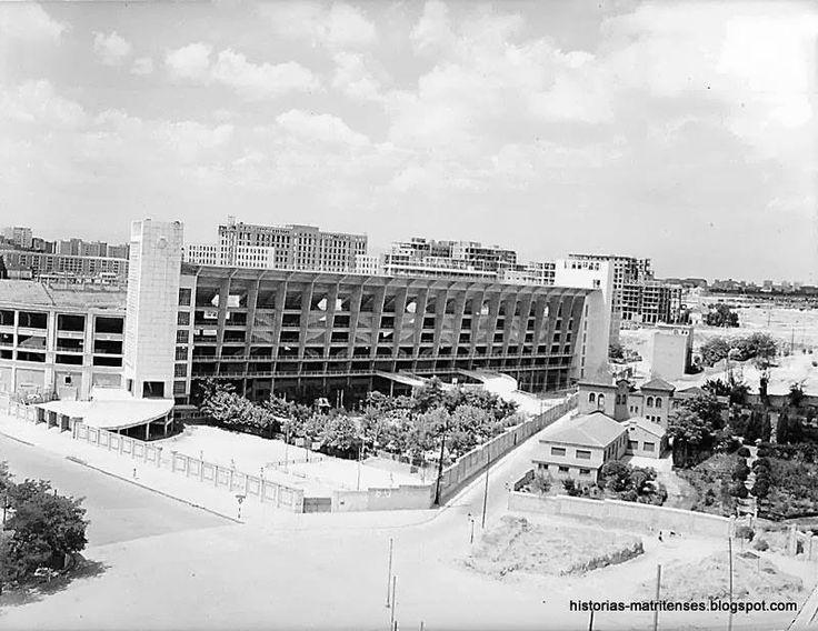 Estadio Santiago Bernabéu. Plaza de los Sagrados Corazones, 1956