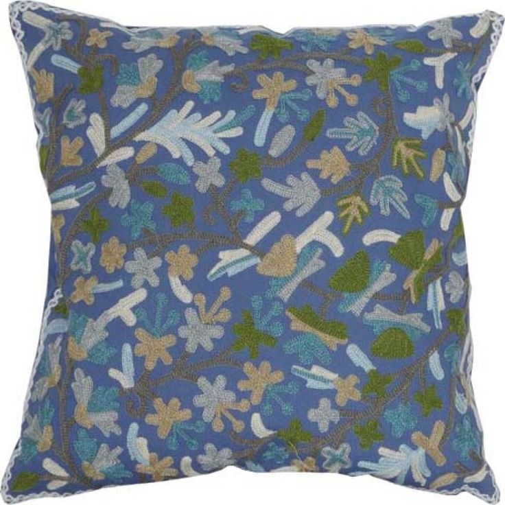 Suzani Embroidery Polyester Decorative Pillow Cover   #cushions #pillows #decor #pattern #country #homedecor #livingroom