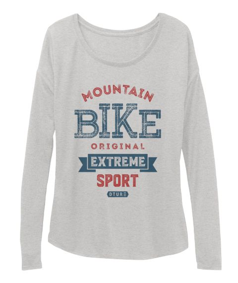 Mountain Bike T Shirt Athletic Heather T-Shirt Front