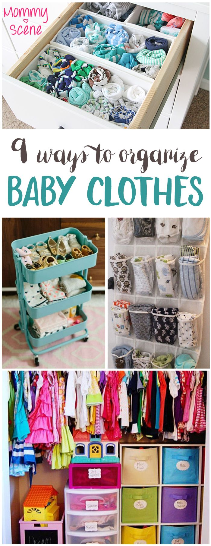 9 Ways To Organize Baby Clothes Storage And Diy