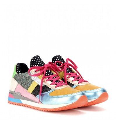 Bunte Sneakers aus Glitter und Metallic-Leder By Dolce & Gabbana