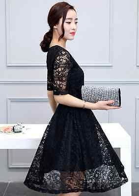 Women Lace Dress Floral Short Cocktail Evening Party Casual Extra Size Fashion | eBay