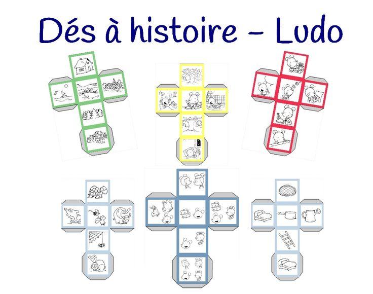 Voici un outil pour travailler les compétences rédactionnelles des élèves dès la maternelle. Après avoir créé mes affiches pour guider les élèves lors des questions de compréhension, j'ai imaginé des dés à histoire (voir les dés à histoires avec les dessins de Mysticlolly). Parce que j'utilise avec plaisir Ludo dans ma classe, j'ai imaginé des dés à histoire avec ce petit personnage. Les images sont extraites de l'imagier de Ludo. Pour l'utilisation, le cahier de Ludo évid...