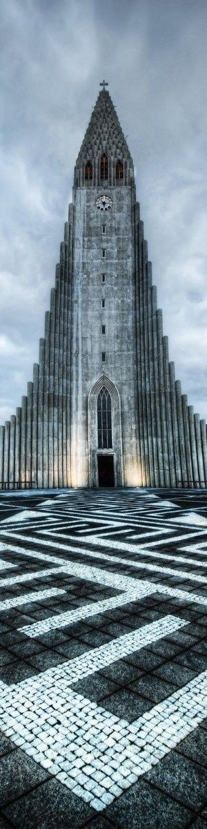 The striking concrete Hallgrimskirkja church offers views of the capital Reykjavik!