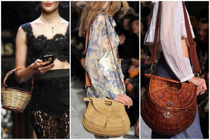 Милые дамские штучки. Какие сумки актуальны летом 2016  Плетение  Еще одним оригинальным решением сезона 2016 будут плетеные сумки. Дизайнеры прыгнули выше головы и предлагают в качестве материала для изготовления натуральную лозу. Модные плетеные изделия в 2016 году от Dolce & Gabbana и Philosophy di Lorenzo Serafini словно сошли со страниц славянских сказок, они выглядят как корзинки и туески. Для тех, кто не готов рискнуть так сильно, модные дома Michael Kors и Bottega Veneta предлагают…