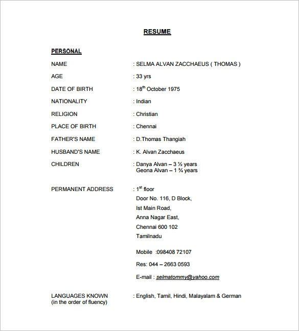 9 Tutor Resume Templates Doc Excel Pdf Free Premium Sample Resume Templates Online Resume Template Resume Format Download