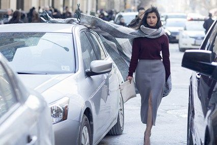 Winter street style curtesy of Vogue online