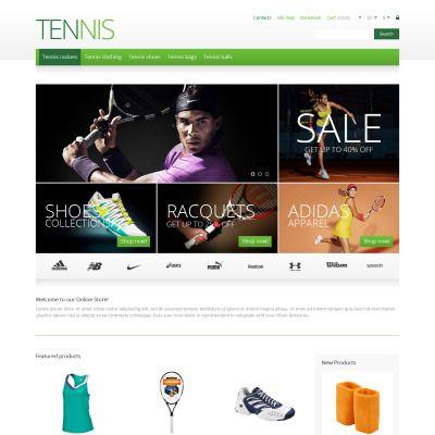 Responsive Tennis Store Responsive PrestaShop Template