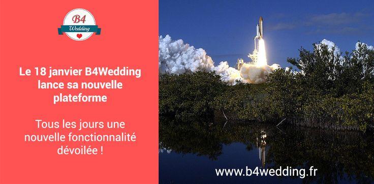 A partir du 18 janvier vous pourrez retrouver de nouvelles fonctionnalités sur la plate forme B4Wedding.  https://b4wedding.fr/fr #B4wedding #wedding #mariage