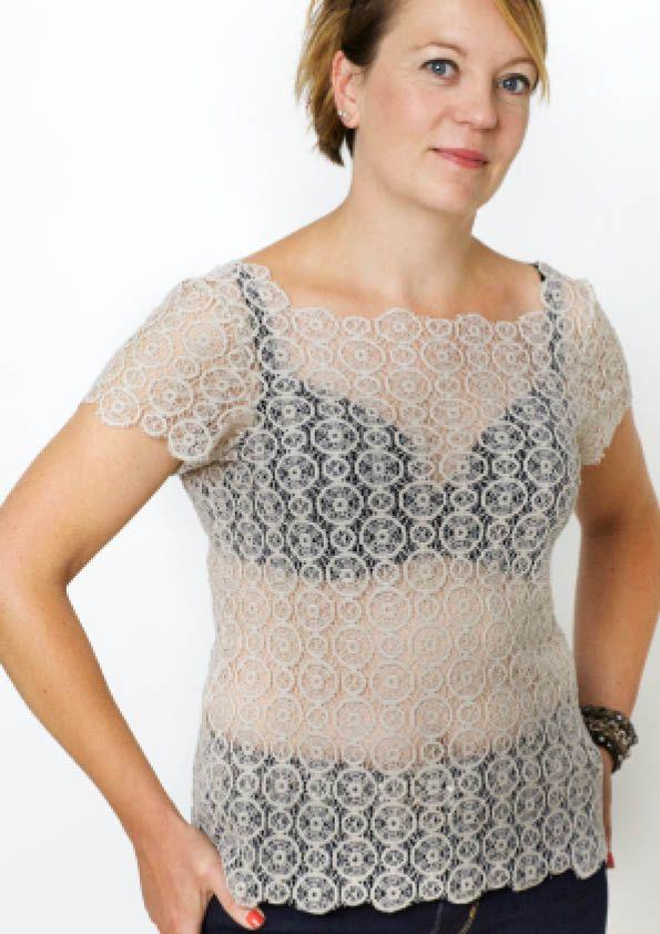 En halsudskæring er en nem og hurtig ændring at lave i dit symønster. Trin for trin billedguide til at lave en ny halsudskæring i en bluse eller kjole.
